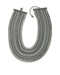 Abs By Allen Schwartz Chain Statement Necklace 16 Hematite