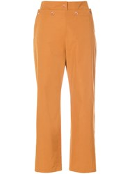 See By Chloe Cropped Sailor Trousers Brown