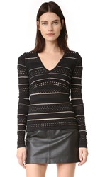 Bailey 44 Niki Bandage Knit Sweater Black