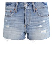 Abercrombie And Fitch Denim Shorts Light Wash Blue Denim