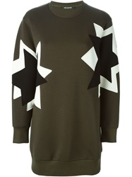 Neil Barrett Geometric Motif Sweatshirt Green