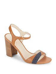 Cole Haan Florena Leather Colorblock Sandals British Tan