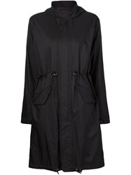 Julien David Drawstring Waist Parka Black