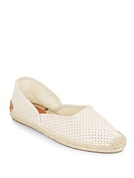 Rag And Bone Georgie Perforated Leather Espadrilles Off White