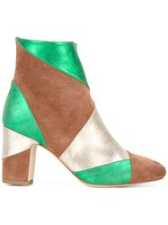 Polly Plume Keywest Ankle Boots Women Chamois Leather Leather 37 Green