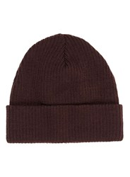 Topman Red Maroon Ribbed Beanie Hat