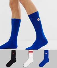 New Look Socks With La Embroidery 3 Pack Multi