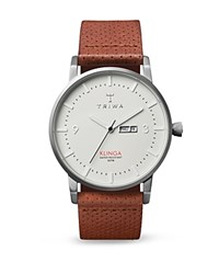 Triwa Klinga Perforated Leather Strap Watch 38Mm White