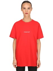 Famt Fuck Art Make Tees Narcissism Cotton Jersey T Shirt Red