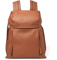 Loewe Full Grain Leather Backpack Tan