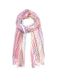 Missoni Viscose And Cotton Zig Zag Stole Purple Pink