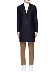 Paul Smith 'A Coat To Travel In' Wool Epsom Coat Blue