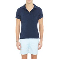 Orlebar Brown Men's Terry Polo Shirt Navy