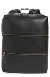 Matt And Nat Slate Faux Leather Backpack