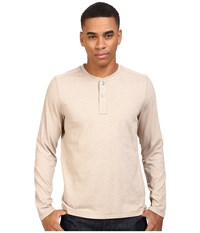 The North Face Long Sleeve Copperwood Henley Dune Beige Heather Men's Clothing