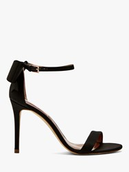 Ted Baker Bowtifl Bow Heeled Stiletto Sandals Black