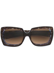 Oliver Goldsmith Square Frame Sunglasses Brown