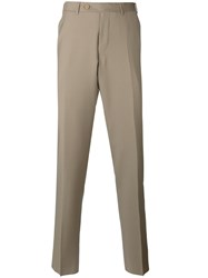 Canali Regular Trousers Nude Neutrals