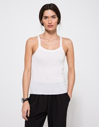 Alexander Wang Knit Strappy Tank Top Ivory