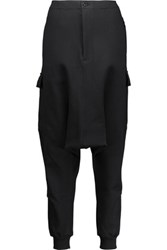 Y 3 Adidas Originals Cotton Blend Tapered Pants Black