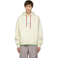 Wonders Ssense Exclusive Off White Embroidered Logo Hoodie