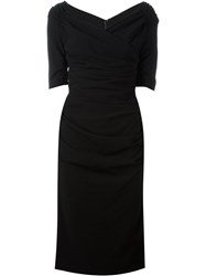Dolce And Gabbana Ruched Dress Black