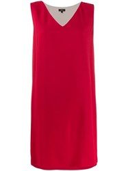 Theory V Neck Dress Red