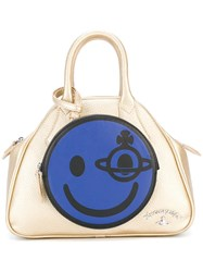 Vivienne Westwood Anglomania 'Happy' Tote Metallic