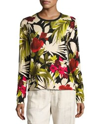 Tommy Bahama Victoria Blooms Pullover Sweater Multi Pattern