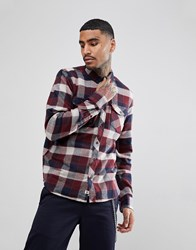 Element Flannel Shirt In Red Plaid Check Red