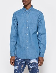 Shades Of Grey Standard Washed Denim Bd Shirt Washed Blue