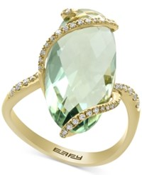 Effy Green Amethyst 7 1 4 Ct. T.W. And Diamond 1 5 Ct. T.W. Ring In 14K Gold Yellow Gold