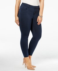 Celebrity Pink Trendy Plus Size Colored Wash Jeggings Moroccan Blue
