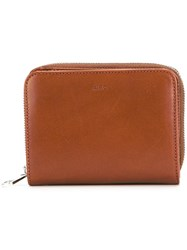 A.P.C. Compact Wallet Brown