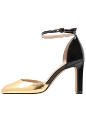 Chocolate Schubar High Heels Gold