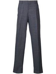 E. Tautz Pleated Trousers Blue