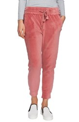 1.State Raw Hem Velour Jogger Pants Forest Berry