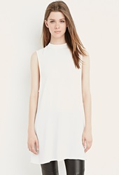 Forever 21 Side Cutout Shift Dress Cream