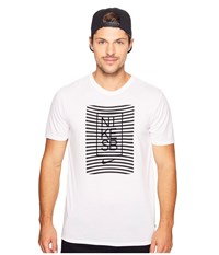 Nike Driblend Striped Dry Tee White Black Men's T Shirt