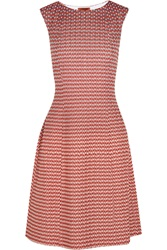Missoni Ombre Crochet Knit Dress Red