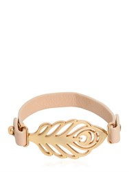 See By Chloe Feather Metal Leather Bracelet