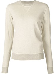 321 Washed Crew Neck Sweatshirt Nude And Neutrals