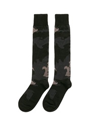 Valentino Camouflage Cotton Blend Socks Grey