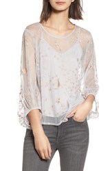 Willow And Clay 'S Embroidered Top Silver