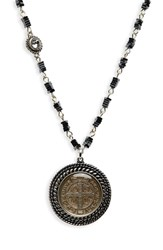 Virgins Saints And Angels San Benito Magdalena Multistrand Necklace Silver W Hematite Clear
