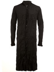 A New Cross Mandarin Neck Long Shirt Black