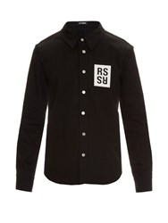 Raf Simons Long Sleeved Denim Shirt Black