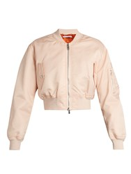 Givenchy Cropped Twill Bomber Jacket Light Pink