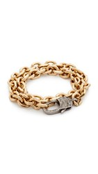 Nathan And Moe Melody Double Wrap Bracelet Gold Topaz