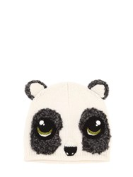 Dolce And Gabbana Panda Wool Cashmere Knit Beanie Hat Multicolor